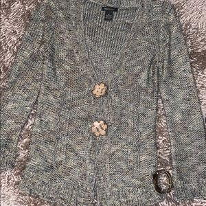 BCBGMaxAzria quirky sweater with wood buttons -J1